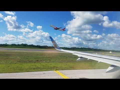 Landing At Cancun, Mexico!