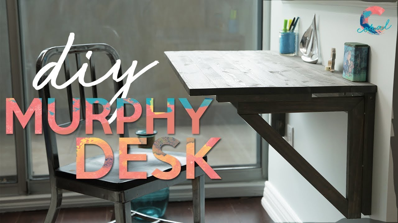 Save Space With This Murphy Desk Complete Tutorial Youtube