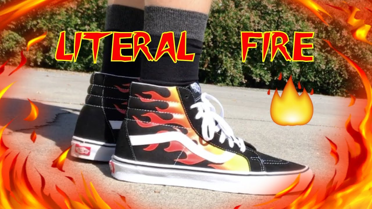 186a3b523b279c Vans Sk8 Hi Flame On Feet + Outfit Guide - YouTube