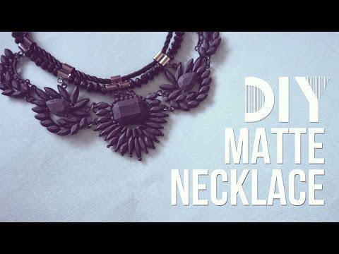 ✂ DIY Matte Spray Paint Necklace