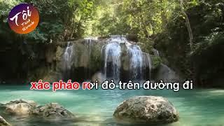 [Karaoke] Mua thu tren Bach Ma Son (Ly con sao - Co 1-6) Don ca Nam