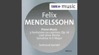3 Fantaisies ou caprices, Op. 16: No. 2. Scherzo in E Minor, MWV U71