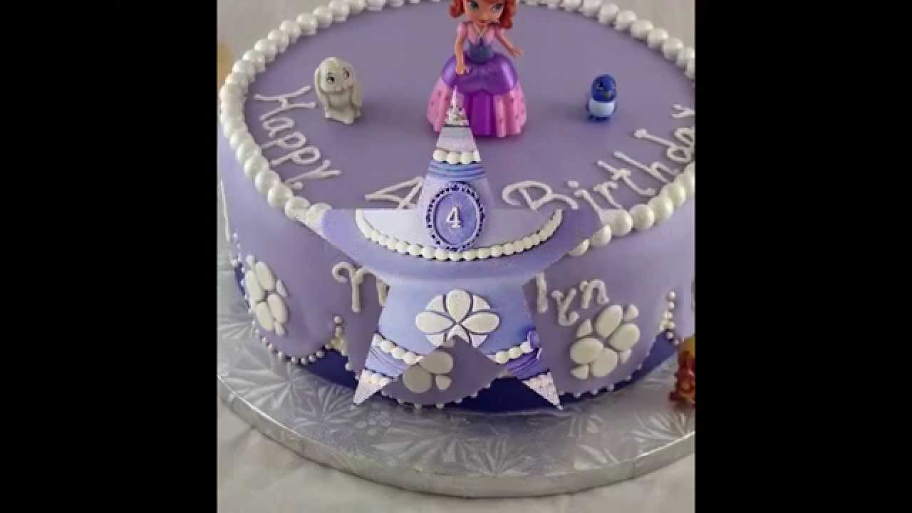 Sweet Sofia Cake Design Verona : sofia princess birthday cake is beautiful and sweet - YouTube