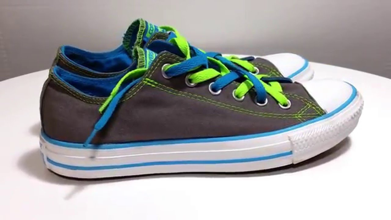 7aca4c14afd8 Converse All Star blue green white gray canvas women s sneaker shoes size 7