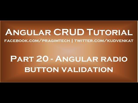 Angular Radio Button Validation