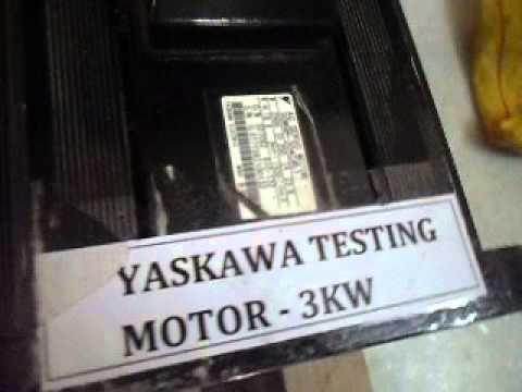 Yaskawa Sigma II series -11 KW - servo drive test run by Suresh S