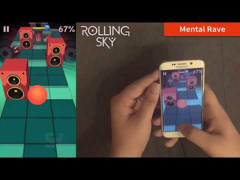 Rolling Sky NEW Bonus 7 -  Mental Rave 100% Completed -  All Crowns/Gems | SHAvibe
