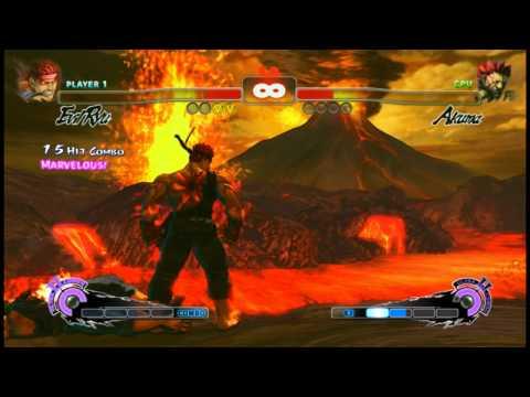 Super Street Fighter IV - Evil Ryu vs Akuma on Hardest |