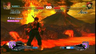 Super Street Fighter IV - Evil Ryu vs Akuma on Hardest