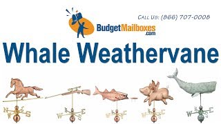 Budgetmailboxes.com | Good Directions 9660p Whale Weathervane - Polished Copper