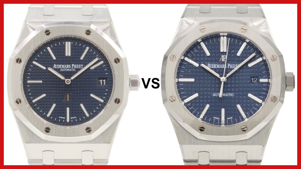 Audemars Piguet Royal Oak Blue Index 39 Vs 41mm Comparison