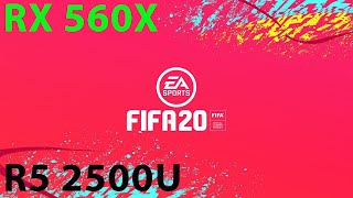 FIFA 20 - RX 560X - Ryzen 2500u - 8GB RAM - MAX SETTINGS/60FPS/1080p - Benchmark Gameplay