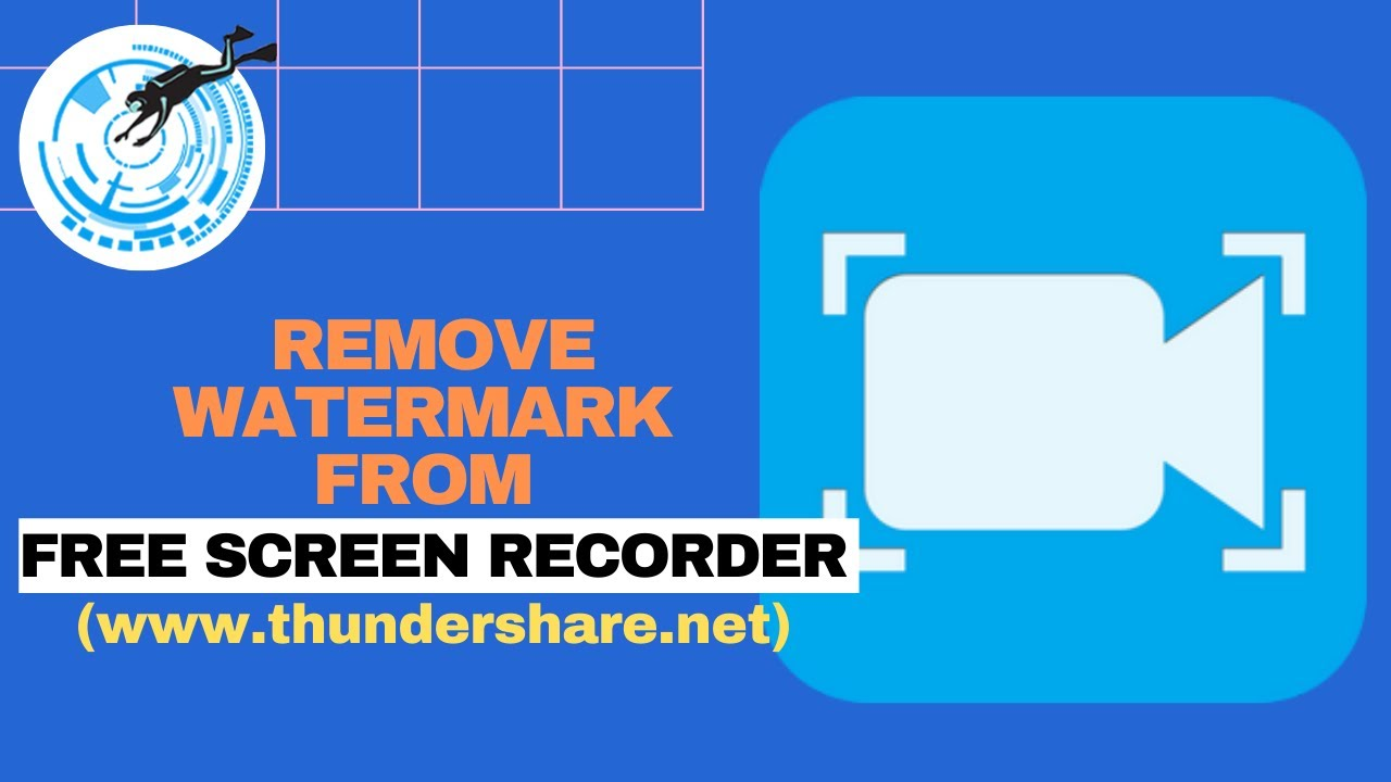 remove watermark from free screen recorder, free screen recorder, watermark removal, thundersoft watermark removal