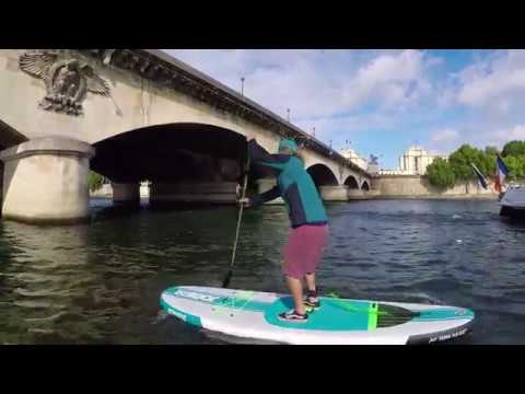 SUP-snack: Joost crosses the Seine & SUPs from the police