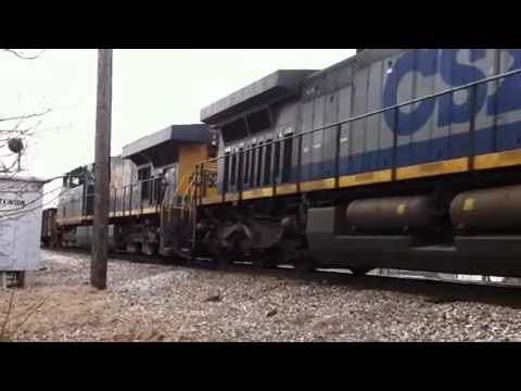 NB CSX with repaired hoppers at South Adkinson March 8 2011-iPhone.m4v