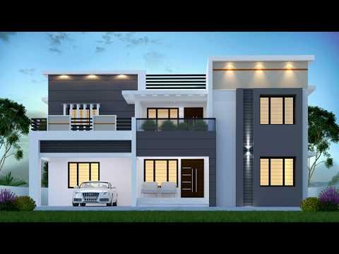 4 Bedroom Home Design I 2997 Square Feet I Modern Flat Roof I Two Story Home Youtube
