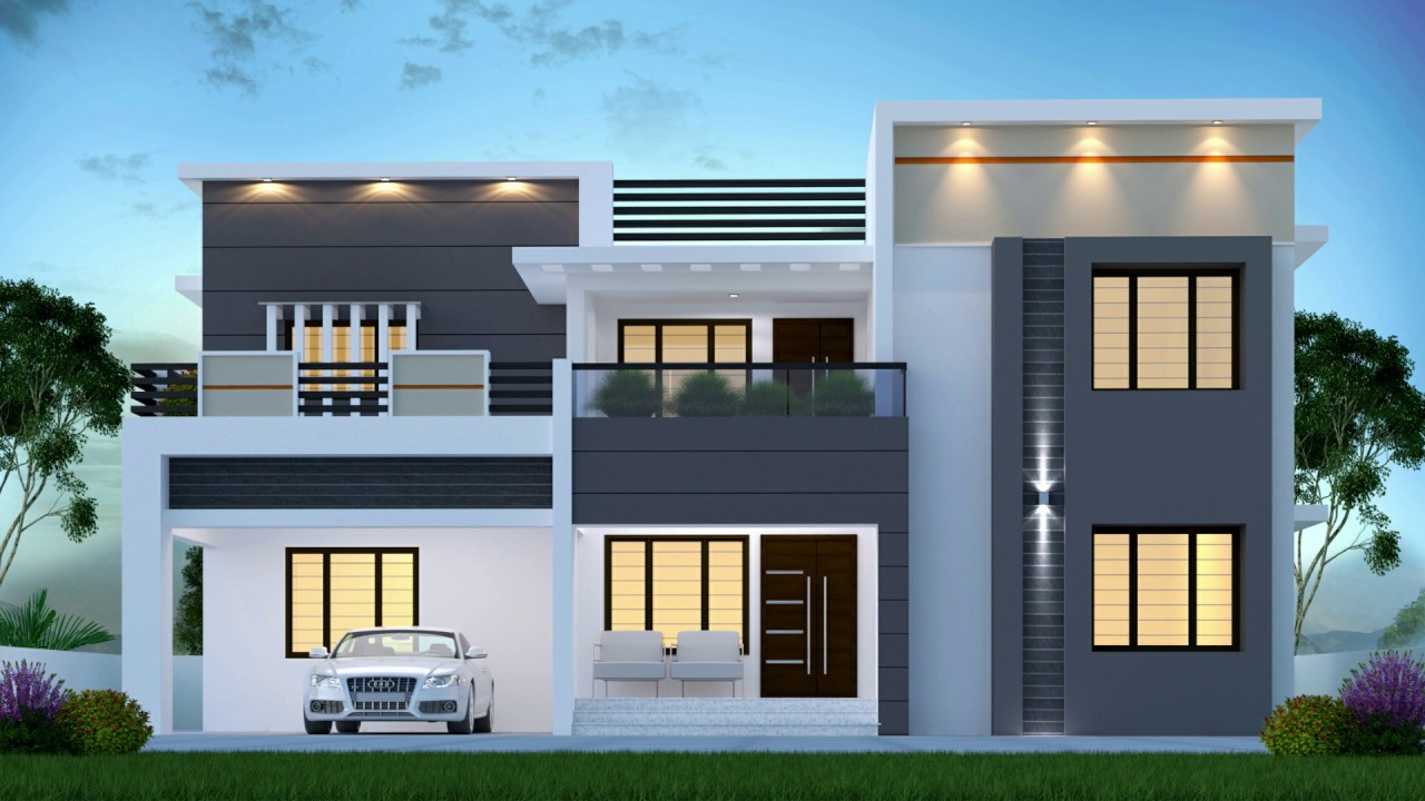 4 Bedroom Home Design I 2997 Square Feet I Modern Flat Roof I Two Story Home Youtube