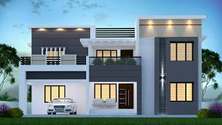 4 BEDROOM HOME DESIGN I 2997 SQUARE FEET  I   MODERN,FLAT ROOF  I  TWO STORY HOME