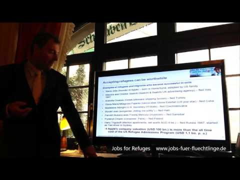 Jobs for qualified refugees in Germany - Project presentation at the Europe Union Stuttgart