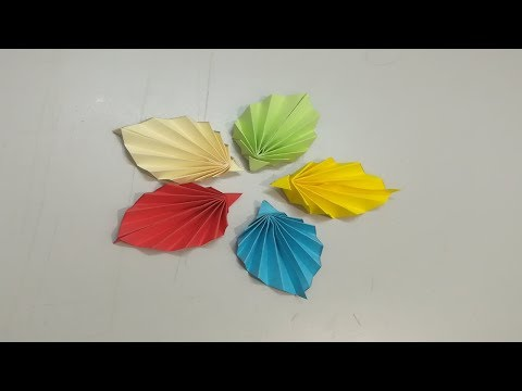 How to make paper tree leaf   Easy paper tree leaf   DIY Colorful Paper Leaf
