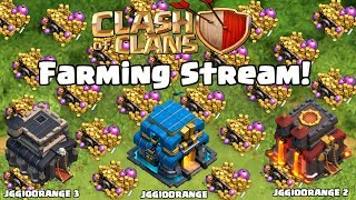 LETS FARM! Clash of Clans Farming Stream (!br)