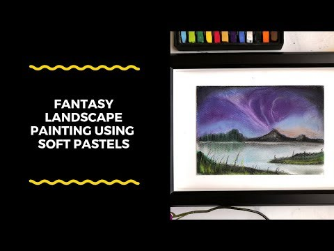 Easy and beautiful fantasy landscape painting using soft pastels | chalk pastel art for beginners