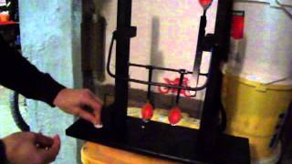 DIY self resetting spoon target for BB & pellet air gun or rifle