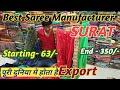 Saree manufacturer Surat  !!  Surat Textail Market  !! Saree Market surat