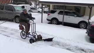 Snow Machine ВЕЛОСИПЕД СНЕГОУБОРЩИК
