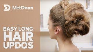 Easy Long Hair Updos