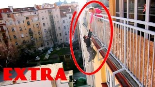 Extra Footage - Falling From Balcony PRANK