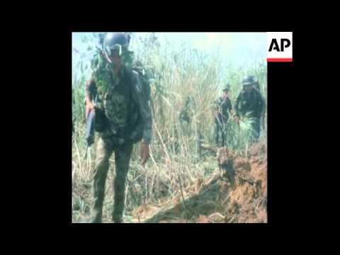 UPITN 8 10 71 SOUTH VIETNAMESE TROOPS OPERATE IN CAMBODIA