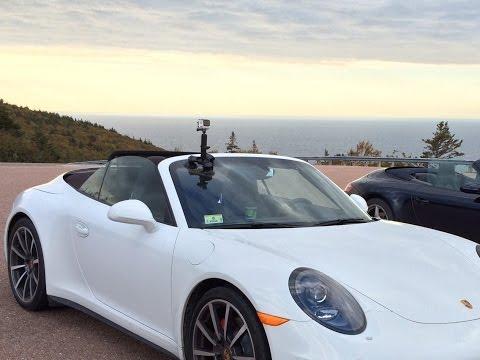 Porsche 911 with GoPro on Cabot Trail, Nova Scotia