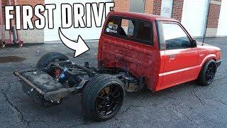 homepage tile video photo for Custom 4 LINK SUSPENSION is DONE! - V8 Drift Truck