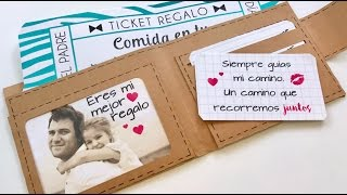 REGALO DIA DEL PADRE - BILLETERO CON TICKETS REGALO + FOTO