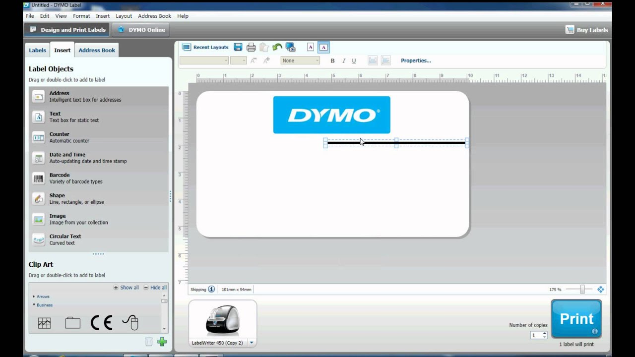 how to create complex labels in dymo label software youtube. Black Bedroom Furniture Sets. Home Design Ideas