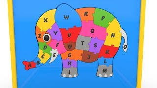 Learn Alphabet with Elephant Puzzle - ABC Songs for Children