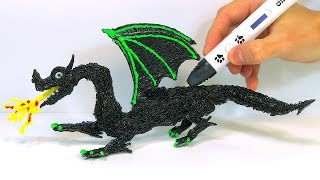 How to make a DRAGON in 3D | Drawing in the Air with a Dikale 3D Pen