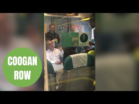 Steve Coogan stands up for commuters on packed train