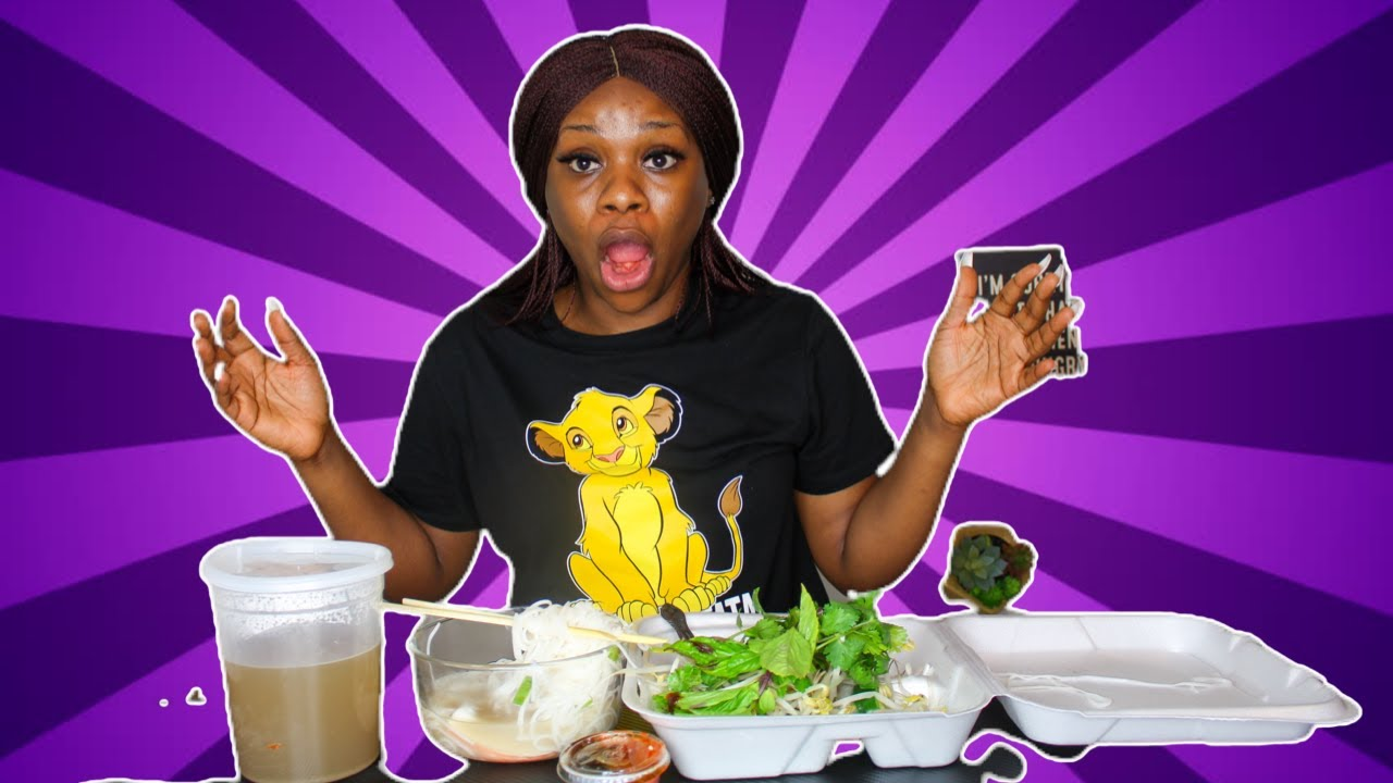 AFRICAN TRIES VIETNAMESE PHO WITH CHOPSTICKS FOR THE FIRST TIME|| PHO MUKBANG!!!!!!!