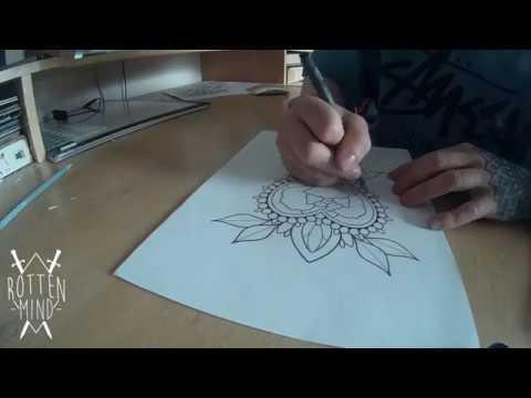 Jewel Tattoo Design - Time-lapse
