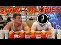 EATING 5 000 CALORIES WITH MY BROTHER   Half Day of Eating   Powerlifting