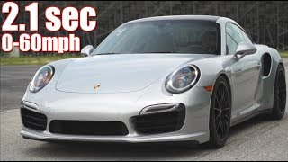 Porsche Turbo 0-60 in 2.1 Seconds BRUTAL Launch & 147MPH in 9 Sec! - Best All Around Sports Car?