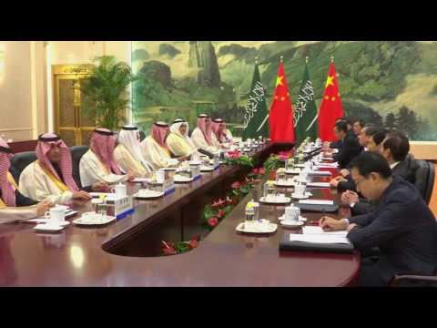 Saudi King Meets Chinese Premier To Strengthen Ties
