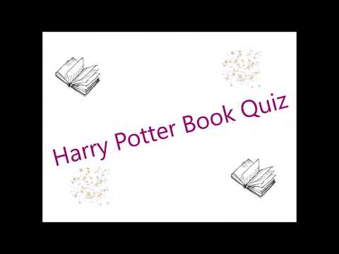 The Harry Potter Book Quiz!