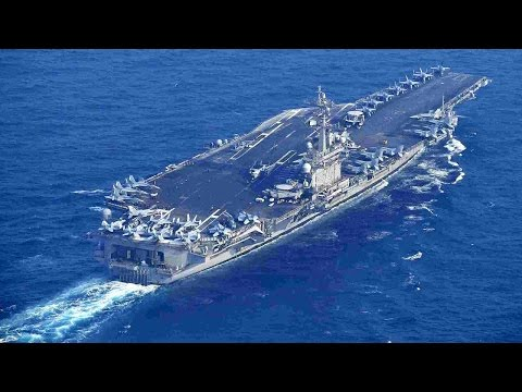 US carrier Carl Vinson arrives in Sea of Japan, conducts naval drill