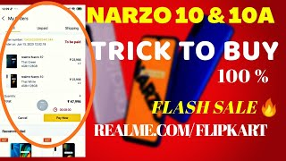 Tricks to buy realme narzo 10a & narzo 10 |How to book realme narzo 10a & narzo 10 from Flipkart🔥|