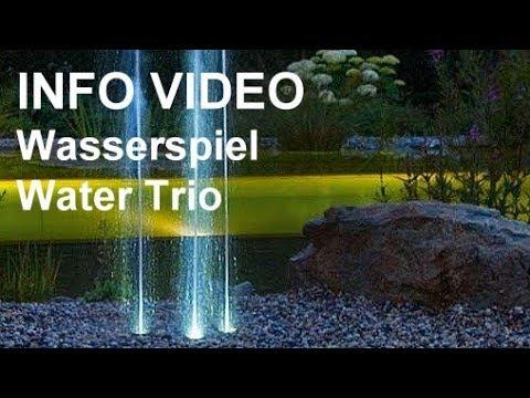 wasserspiel oase water trio - video: kompaktes wasserspiel mit, Garten seite