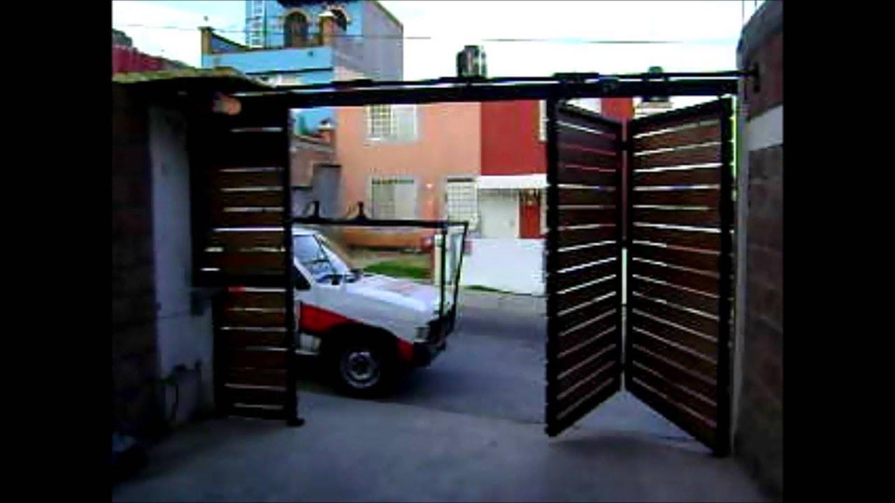 PORTON AUTOMATICA PLEGADIZA 2  YouTube