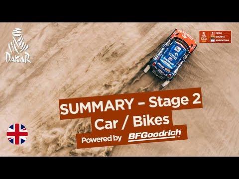 Summary - Car/Bike - Stage 2 (Pisco / Pisco) - Dakar 2018